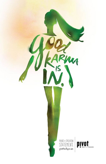 green lady with words